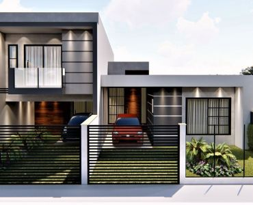 353 - Casa Térrea - 1 suíte + 2 quartos - Área de fundos