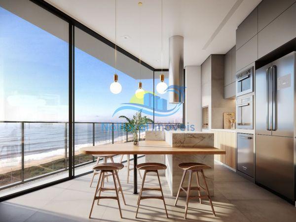 334 - Blue Waves Residences - 3 suítes - Cozinha Vista Sul