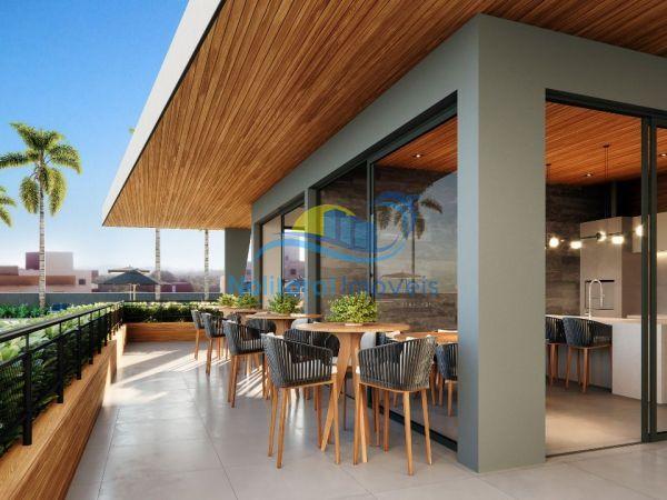 334 - Blue Waves Residences - 3 suítes - Área Gourmet Vista Externa