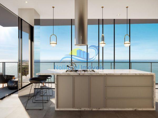 334 - Blue Waves Residences - 3 suítes - Cozinha Vista Leste